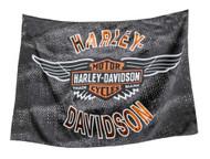 Harley-Davidson® Vintage Bar & Shield Wings Estate Flag, Double Sided 17S4918 - Wisconsin Harley-Davidson