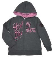 Harley-Davidson® Little Girls Fleece Sherpa Lined Full Zipped Jacket 6533569 - Wisconsin Harley-Davidson