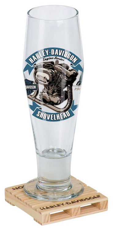 Harley-Davidson® Engine Series Pilsner Set - Shovelhead, 14 oz. Glass HDL-18782 - Wisconsin Harley-Davidson