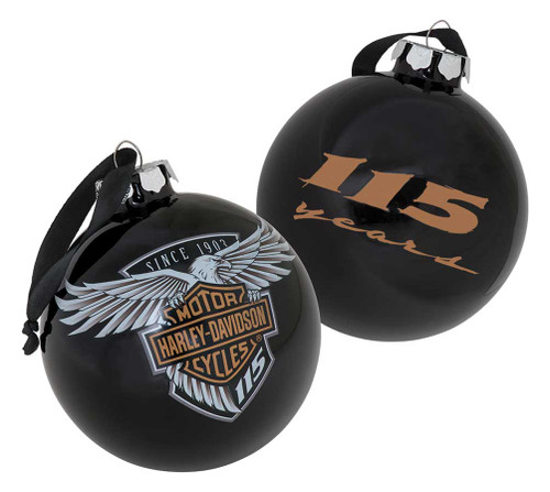 Harley-Davidson® 115th Anniversary Limited Edition Glass Ball Ornament HDX-99101 - Wisconsin Harley-Davidson
