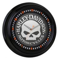 Harley-Davidson® Classic Willie G Skull White Neon Clock, 18 inch HDL-16639 - Wisconsin Harley-Davidson