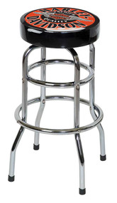 Harley-Davidson® Winged Bar & Shield Bar Stool Chrome Plated HDL-12135 - Wisconsin Harley-Davidson