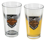 Harley-Davidson® 115th Anniversary Etched Pint Glass Set, 16 oz. HDX-98700 - Wisconsin Harley-Davidson