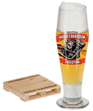 Harley-Davidson® Engine Series Pilsner Set - Evolution, 14 oz. Glass HDL-18783 - Wisconsin Harley-Davidson