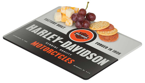 Harley-Davidson® Forged in Iron Mini Cutting Board, 10 x 8 inches HDL-18576 - Wisconsin Harley-Davidson