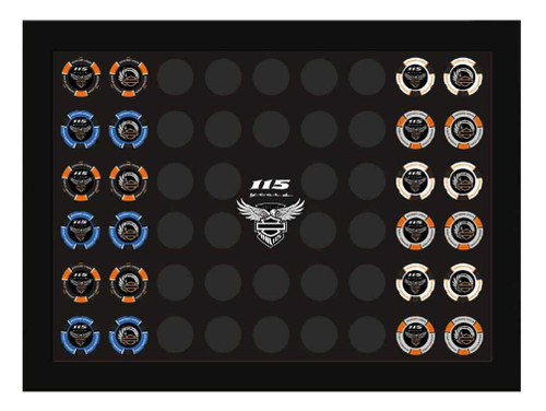 Harley-Davidson® 115th Anniversary Collector's Poker Chip Frame, Black 6966 - Wisconsin Harley-Davidson