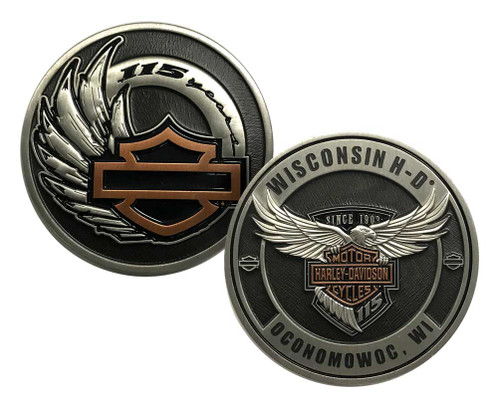Harley-Davidson® 115th Anniversary Dealer Collectors Challenge Coin, 8008376 - Wisconsin Harley-Davidson
