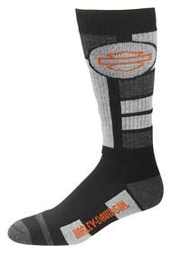 Harley-Davidson® Men's Ultra Cushion Wool Riding Socks, Black D99210570-020 - Wisconsin Harley-Davidson