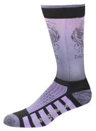 Harley-Davidson® Womens Cushioned Wool Ride Socks, Purple D89098570-501 - Wisconsin Harley-Davidson