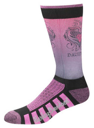 Harley-Davidson® Womens Cushioned Wool Ride Socks, Pink D89098570-651 - Wisconsin Harley-Davidson