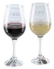 Harley-Davidson® 115th Anniversary Wine Glass Set, Set of 14oz. Glasses HDX-98702 - Wisconsin Harley-Davidson