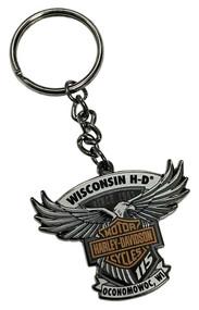 Harley-Davidson® 115th Anniversary Wisconsin HD Keychain - Limited Edition 290083 - Wisconsin Harley-Davidson