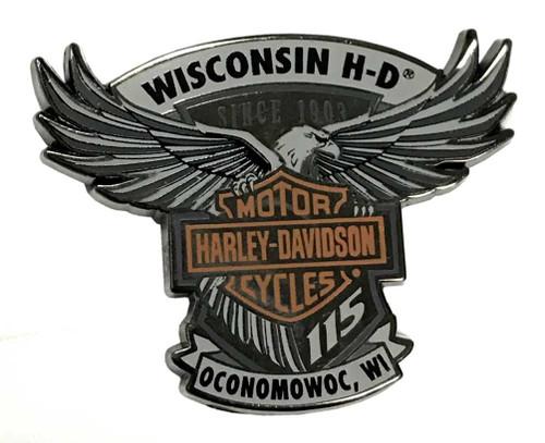 Harley-Davidson® 115th Anniversary Wisconsin H-D Magnet - Limited Edition 290085 - Wisconsin Harley-Davidson