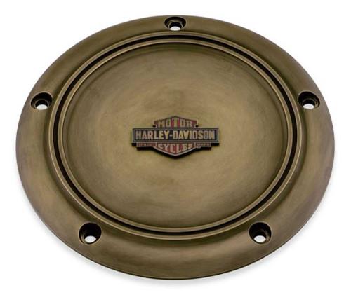 Harley-Davidson® Brass Finish Derby Cover - Fits Dyna, Softail & Touring 25700515 - Wisconsin Harley-Davidson