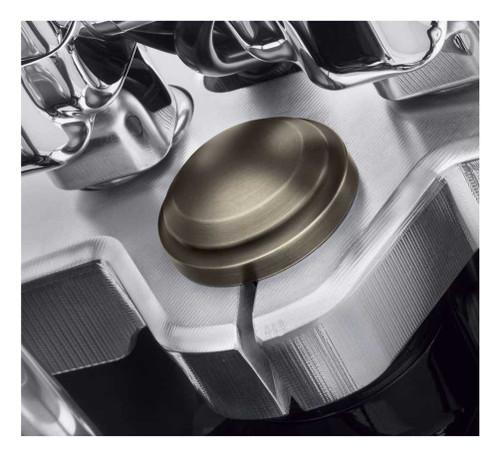 Harley-Davidson® Brass Steering Stem Bolt Cover - Fits Softail Models 45800126 - Wisconsin Harley-Davidson