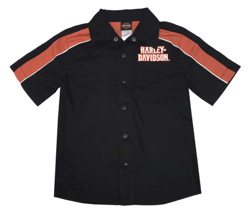 Harley-Davidson® Big Boys' Classic Harley Woven Button Up Shop Shirt 1094709 - Wisconsin Harley-Davidson