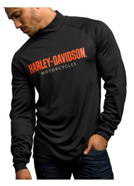 Harley-Davidson® Men's Turn To Victory Performance Mock Neck Shirt 5P34-HB4L - Wisconsin Harley-Davidson