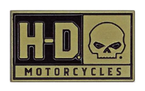 Harley-Davidson® 2D Die Cast H-D Willie G Skull Pin, Brushed Gold Finish P043262 - Wisconsin Harley-Davidson