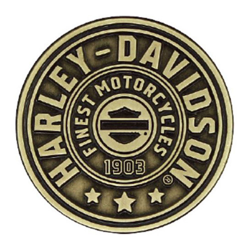 Harley-Davidson® 2D Die Cast Harley Shield Pin, Antiqued Bronze Finish P278682 - Wisconsin Harley-Davidson