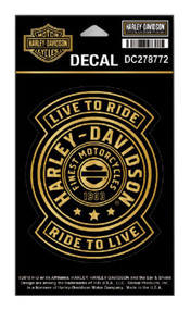 Harley-Davidson® Gold Harley Shield Decal, SM Size - 3.75 x 4.75 in DC278772 - Wisconsin Harley-Davidson