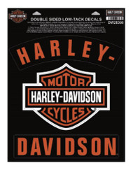 Harley-Davidson® H-D Bar & Shield Rockers Window Cling - 8.5 x 11.25 in DW28366 - Wisconsin Harley-Davidson