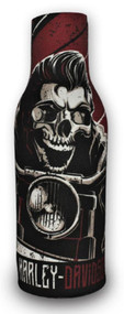 Harley-Davidson® Rockabilly Skull Neoprene Zippered Bottle Wrap, Black BZ27481 - Wisconsin Harley-Davidson