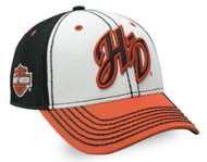 Harley-Davidson® Women's Glitter H-D Initials Colorblocked Baseball Cap BC26266 - Wisconsin Harley-Davidson