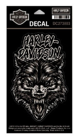Harley-Davidson® Night Wolf Matte Decal, MD Size - 4 x 6 inches DC273803 - Wisconsin Harley-Davidson