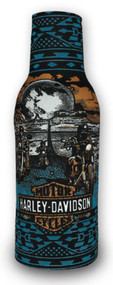Harley-Davidson® Death Valley Neoprene Zippered Bottle Wrap, Teal BZ26641 - Wisconsin Harley-Davidson