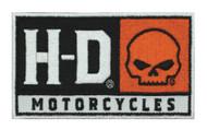 Harley-Davidson® Embroidered H-D Skull Emblem Patch, SM 4 x 2.25 in. EM043662 - Wisconsin Harley-Davidson
