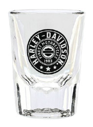 Harley-Davidson® Harley Shield Short Fluted Glass Shot Glass - 2 oz. SG27806 - Wisconsin Harley-Davidson