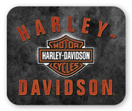 Harley-Davidson® H-D Bar & Shield Rockers Mouse Pad, Thin Black Neoprene MO28366 - Wisconsin Harley-Davidson