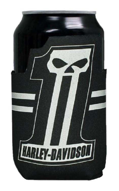 Harley-Davidson® Custom Shape #1 Skull Neoprene Can Flat Wrap, Black CF71800 - Wisconsin Harley-Davidson