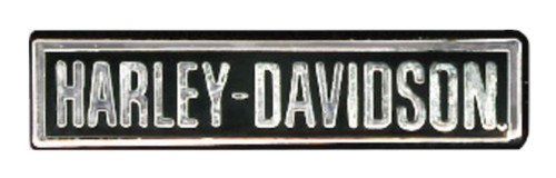 Harley-Davidson® Engraved H-D Script Pin, Polished Silver w/ Enamel Fill P883061 - Wisconsin Harley-Davidson