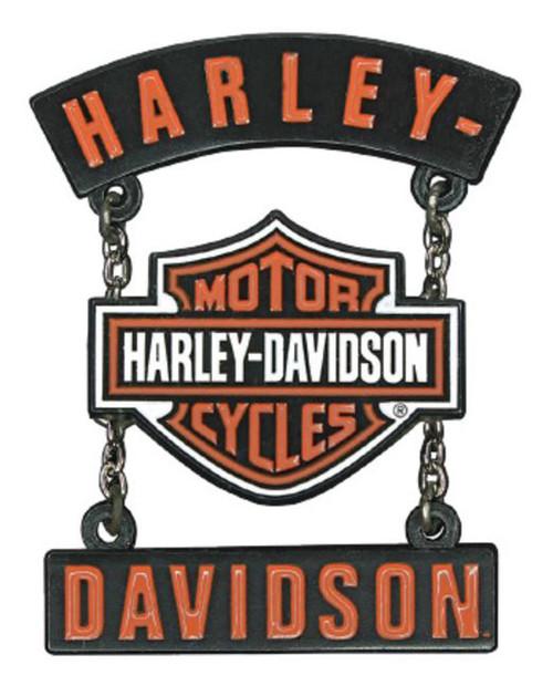 Harley-Davidson® 3D Die Cast H-D B&S Rockers Pin w/ Silver Chains, Black P283664 - Wisconsin Harley-Davidson