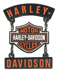 Harley-Davidson® 3D Die Cast H-D B&S Rockers Pin w/ Silver Chains, Black P283664 - Wisconsin Harley-Davidson