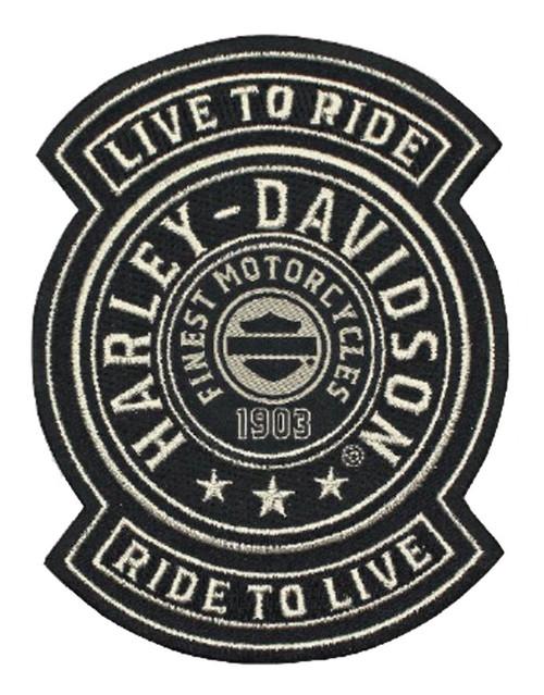 Harley-Davidson® Embroidered Harley Shield Emblem Patch, SM 3.75x4.75in. EM278122 - Wisconsin Harley-Davidson