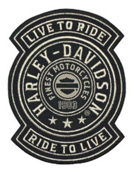 Harley-Davidson® Embroidered Harley Shield Emblem Patch, SM 3.75x4.75in. EM278122 - Wisconsin Harley-Davidson