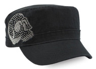Harley-Davidson® Women's Embellished Krystal Skull Painter's Cap, Black PC26530 - Wisconsin Harley-Davidson
