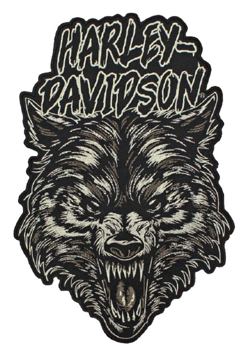 Harley-Davidson® Embroidered Night Wolf Emblem Patch, 2X 7.375 x 11 in. EM273806 - Wisconsin Harley-Davidson