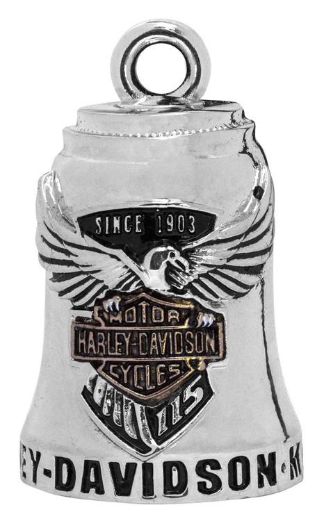 Harley-Davidson® Sculpted 115th Anniversary Ride Bell, Silver Finish HDAN-Z04 - Wisconsin Harley-Davidson