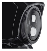 Harley-Davidson® 7 in. Defiance Headlamp Trim Ring - Black Anodized 61400348 - Wisconsin Harley-Davidson