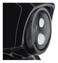 Harley-Davidson® 7 in. Defiance Headlamp Trim Ring - Black Anodized 61400348 - Wisconsin Harley-Davidson
