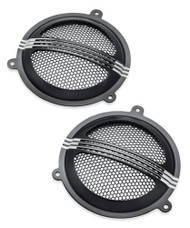 Harley-Davidson® Defiance Batwing Fairing Speaker Grills - Black Machine 76000687 - Wisconsin Harley-Davidson