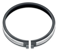 Harley-Davidson® 5.75in. Defiance Headlamp Trim Ring - Black Machine Cut 61400430 - Wisconsin Harley-Davidson