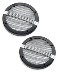 Harley-Davidson® Defiance Tour-Pak Speaker Grills - Black Machine Cut 76000678 - Wisconsin Harley-Davidson