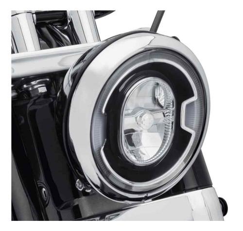Harley-Davidson® 7 in. Daymaker Signature Reflector LED Headlamp - Black 67700354 - Wisconsin Harley-Davidson