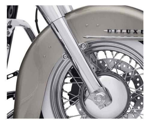Harley-Davidson® Chrome Lower Fork Sliders, FLDE, FLHC & FLHCS Models 45500400 - Wisconsin Harley-Davidson