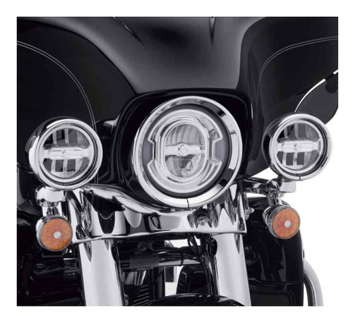 Harley-Davidson® 4 in. Daymaker Reflector LED Auxiliary Lamps, Chrome 68000252 - Wisconsin Harley-Davidson