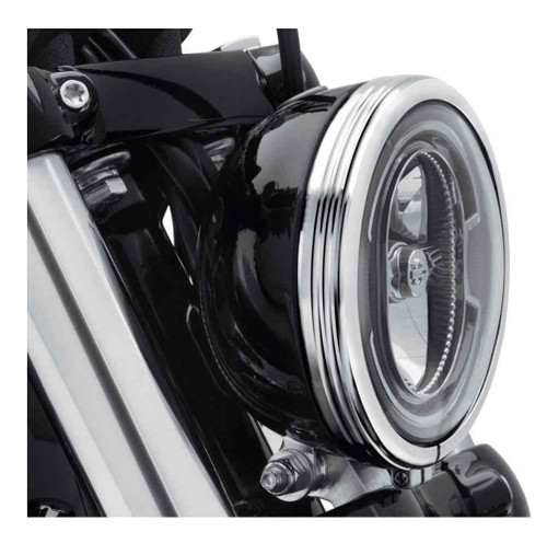 Harley-Davidson® 5.75 in. Defiance Headlamp Trim Ring - Chrome Finish 61400429 - Wisconsin Harley-Davidson